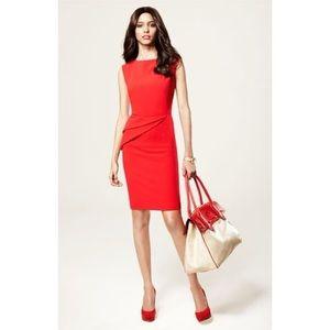 Adrianna Papell Red Peplum Crepe Sheath Dress 4